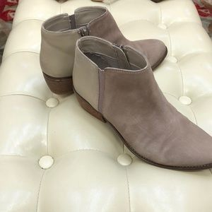 Dune London genuine leather and suede booties